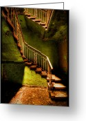 Bauwerk Greeting Cards - The Golden Stairway V Greeting Card by Steven Coppenbarger
