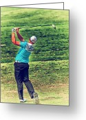 Golf Club Greeting Cards - The Golf Swing Greeting Card by Karol  Livote