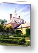 2hivelys Art Greeting Cards - The Governors Mansion Greeting Card by Methune Hively
