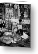 Trading Greeting Cards - The Granary at Fort Nisqually III Greeting Card by David Patterson