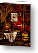 Tacoma Greeting Cards - The Granary at Fort Nisqually IIII Greeting Card by David Patterson