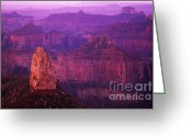 Light And Water Greeting Cards - The Grand Canyon North Rim Greeting Card by Bob Christopher