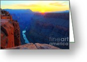 Light And Water Greeting Cards - The Grand Canyon Solitude At Toroweap Greeting Card by Bob Christopher