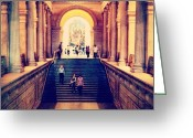Picoftheday Greeting Cards - The Grand Staircase In The Met. #nyc Greeting Card by Luke Kingma