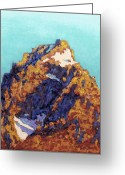 Acrylic Print Greeting Cards - The Grand Teton Greeting Card by Abbie Groves