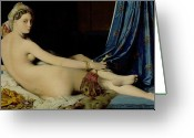 Orientalist Greeting Cards - The Grande Odalisque Greeting Card by Ingres