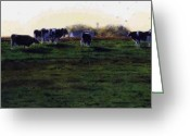 Photo-realism Painting Greeting Cards - The Grass is Greener Greeting Card by Denny Bond