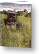 Summer On The Farm Greeting Cards - The Grass Still Grows Greeting Card by Prairie Poetry