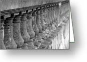 Sea Wall Greeting Cards - The Great Bayshore Seawall Greeting Card by David Lee Thompson