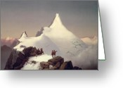 Snow Capped Painting Greeting Cards - The Great Bellringer Greeting Card by Marcus Pernhart 