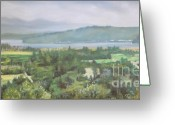 Washington Pastels Greeting Cards - The Great Bend Greeting Card by Terri Thompson