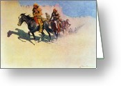 Great Painting Greeting Cards - The Great Explorers Greeting Card by Frederic Remington