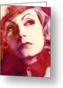 Greta Garbo Greeting Cards - The great Garbo Greeting Card by Stefan Kuhn