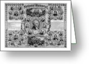 President Drawings Greeting Cards - The Great National Memorial Greeting Card by War Is Hell Store