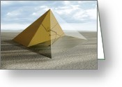 Passageways Greeting Cards - The Great Pyramid, Egypt Greeting Card by Claus Lunau