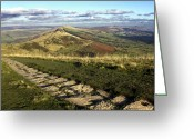 English Countryside Print Greeting Cards - The Great Ridge Derbyshire Greeting Card by Darren Burroughs