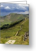 English Countryside Print Greeting Cards - The Great Ridge Hope Valley Derbyshire. Greeting Card by Darren Burroughs