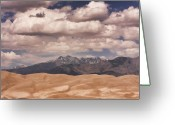 The Lightning Man Greeting Cards - The Great Sand Dunes 88 Greeting Card by James Bo Insogna