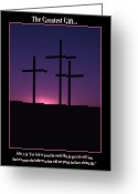 Christianity Photo Greeting Cards - The Greatest Gift Greeting Card by Mike  Dawson
