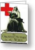 Nurses Greeting Cards - The Greatest Mother In The World Greeting Card by War Is Hell Store