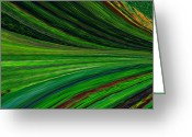 Light Green Digital Art Greeting Cards - The Green Movement Greeting Card by Rita Nordal
