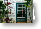 ; Maui Greeting Cards - The Green Window Greeting Card by Karon Melillo DeVega