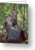 The Glade Greeting Cards - The Grove Greeting Card by Julius Gari Melchers