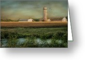 Silo Greeting Cards - The Growing Season Greeting Card by Robin-lee Vieira