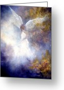Religious Art Painting Greeting Cards - The Guardian Greeting Card by Marina Petro
