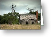 Old Abandoned House Greeting Cards - The Guardian Greeting Card by Mike Irwin