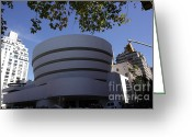 Guggenheim Museum Greeting Cards - The Guggenheim Greeting Card by David Bearden