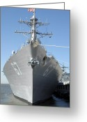 Cole Greeting Cards - The Guided Missile Destroyer Uss Cole Greeting Card by Stocktrek Images