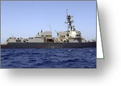 Guided Missile Destroyers Greeting Cards - The Guided-missile Destroyer Uss James Greeting Card by Stocktrek Images