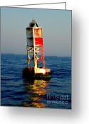 Wrightsville Greeting Cards - The Guiding Light Greeting Card by Karen Wiles