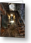 Ghosts Greeting Cards - The Hallway of Broken Dreams - Eastern State Penitentiary - Lee Dos Santos Greeting Card by Lee Dos Santos