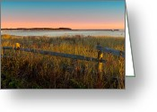 Fence Greeting Cards - The Harbor Greeting Card by Bill  Wakeley