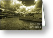Charlestown Greeting Cards - The Harbour at Charlestown Greeting Card by Rob Hawkins