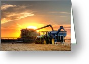 John Deere Greeting Cards - The Harvest Greeting Card by Thomas Zimmerman