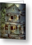 Rural Decay  Digital Art Greeting Cards - The Haunting Greeting Card by Sari Sauls