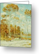 Turning Leaves Greeting Cards - The Hawks Nest Greeting Card by Childe Hassam