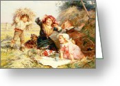 Old Fashioned Painting Greeting Cards - The Haymakers Greeting Card by Frederick Morgan