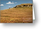 Open Range Greeting Cards - The Haystack Greeting Card by Fred Lassmann