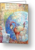 Figurative Mixed Media Greeting Cards - The Healer Set Me Free Greeting Card by Arlissa Vaughn