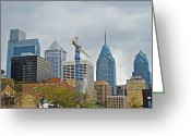 Phillie Photo Greeting Cards - The Heart of the City - Philadelphia Pennsylvania Greeting Card by Carol Senske