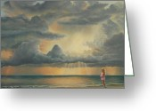 Ruth Gee Greeting Cards - The Heavens Declare His Glory Greeting Card by Ruth Gee