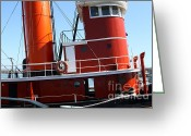 Boats Greeting Cards - The Hercules . A 1907 Steam Tug Boat At The Hyde Street Pier in San Francisco California . 7D14143 Greeting Card by Wingsdomain Art and Photography