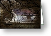 Shed Greeting Cards - The Hideout Greeting Card by Ron Jones