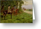 Plot Greeting Cards - The Highwaymen Greeting Card by George Derville Rowlandson