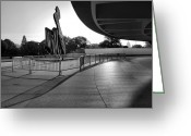 Cities Greeting Cards - The Hirshhorn Museum II Greeting Card by Steven Ainsworth