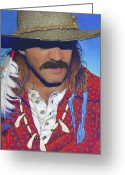 Trader Greeting Cards - The Historian - Jeff Trotman Greeting Card by Tracy L Teeter